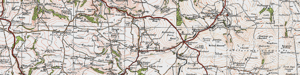 Old map of Kentisbury in 1919