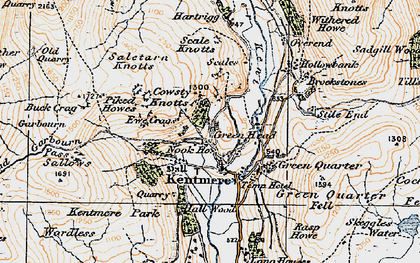 Old map of Yoke in 1925