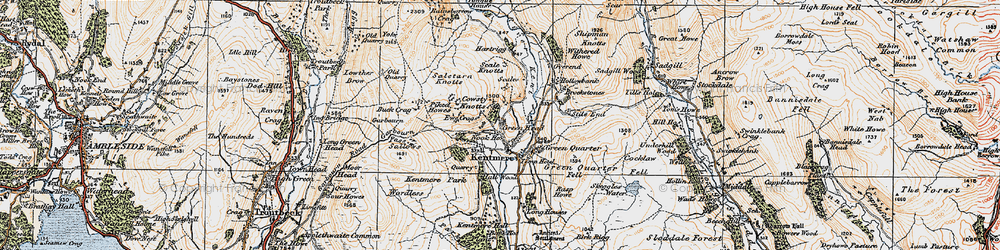 Old map of Tongue Ho (ruin) in 1925