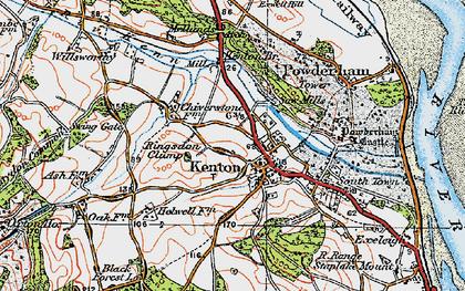 Old map of Kenton in 1919
