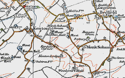 Old map of Woodcroft Hall in 1921