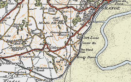 Old map of Kents Bank in 1925