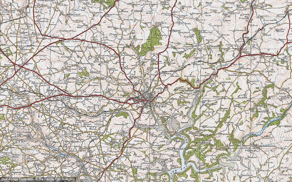 Old Map of Kenwyn, 1919 in 1919