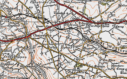 Old map of Kerley Downs in 1919