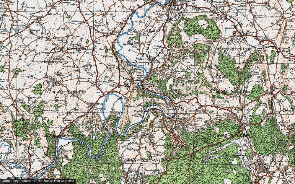 Old Map of Kerne Bridge, 1919 in 1919