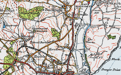 Old map of Tidwell Ho in 1919