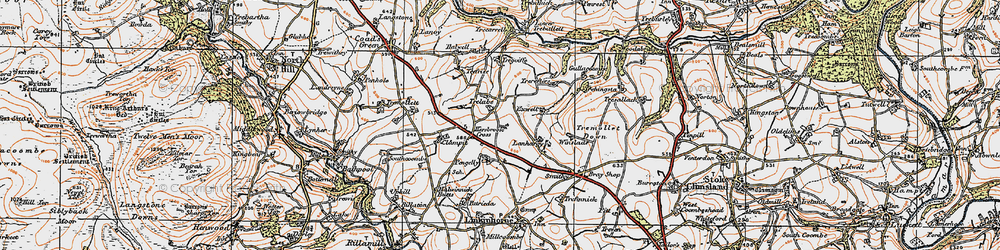 Old map of Winslade in 1919