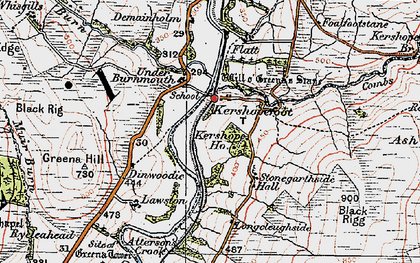 Old map of Ash Park in 1925