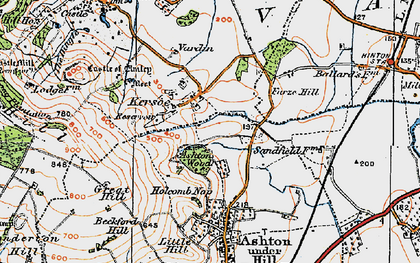 Old map of Ashton Wood in 1919