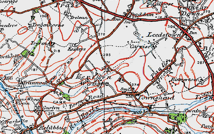 Old map of Kerthen Wood in 1919