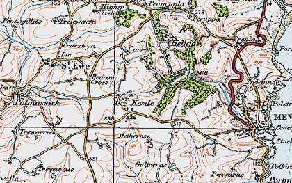 Old map of Kestle in 1919