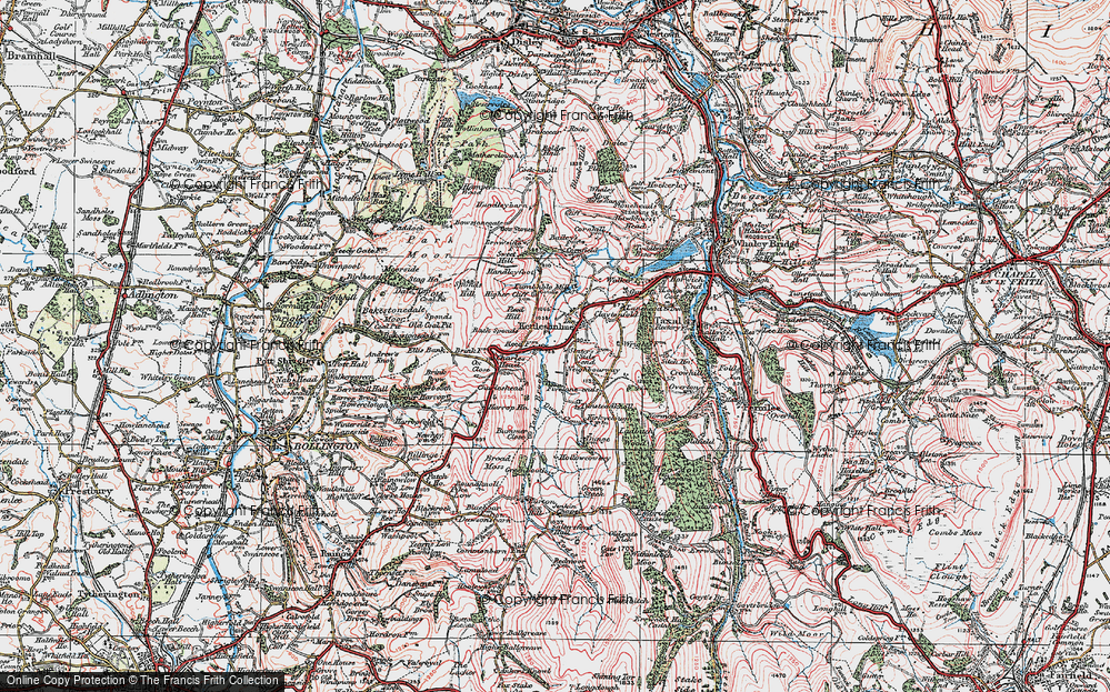 Old Map of Historic Map covering Todd Brook in 1923