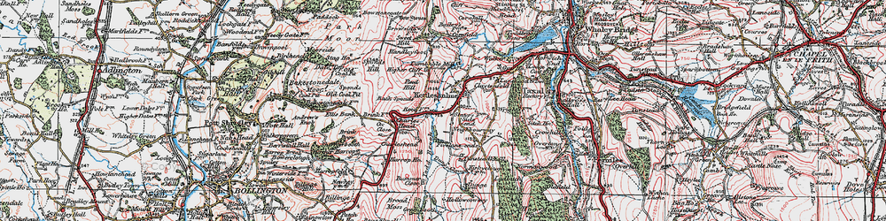 Old map of Todd Brook in 1923
