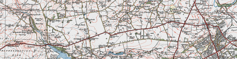 Old map of Willow Ho in 1925