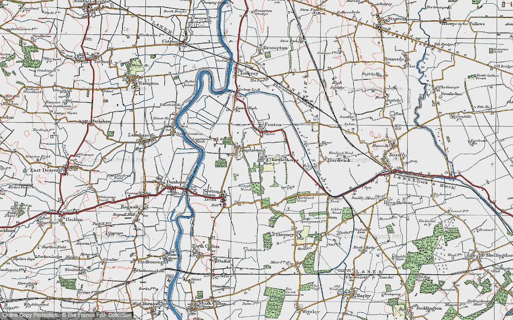 Old Map of Kettlethorpe, 1923 in 1923