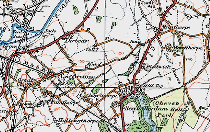 Old map of Kettlethorpe in 1925