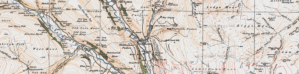 Old map of Whernside Pasture in 1925