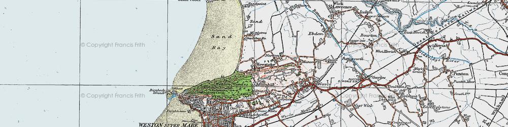 Old map of Kewstoke in 1919