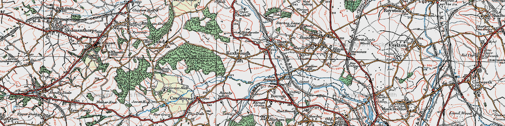 Old map of Kexbrough in 1924