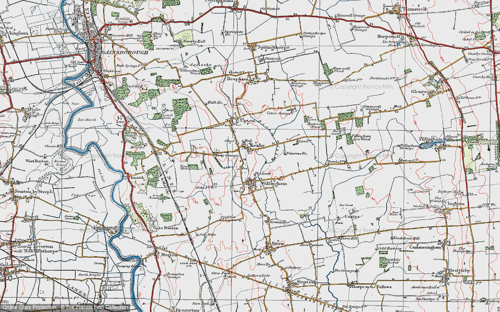 Old Map of Kexby, 1923 in 1923