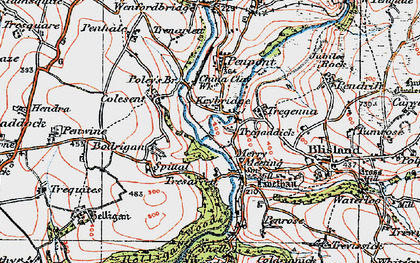 Old map of Keybridge in 1919