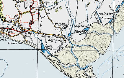 Old map of Aubrey Ho in 1919