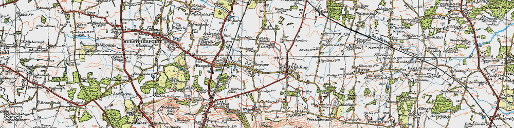 Old map of Keymer in 1920