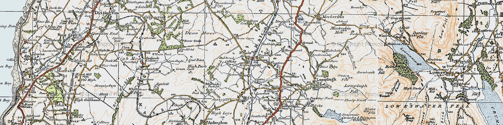 Old map of Wright Green in 1925