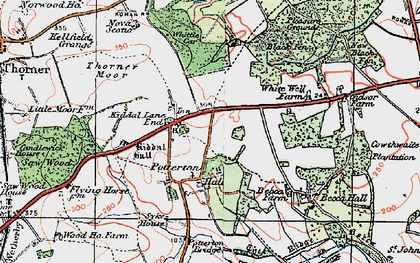 Old map of Whittle Car in 1925