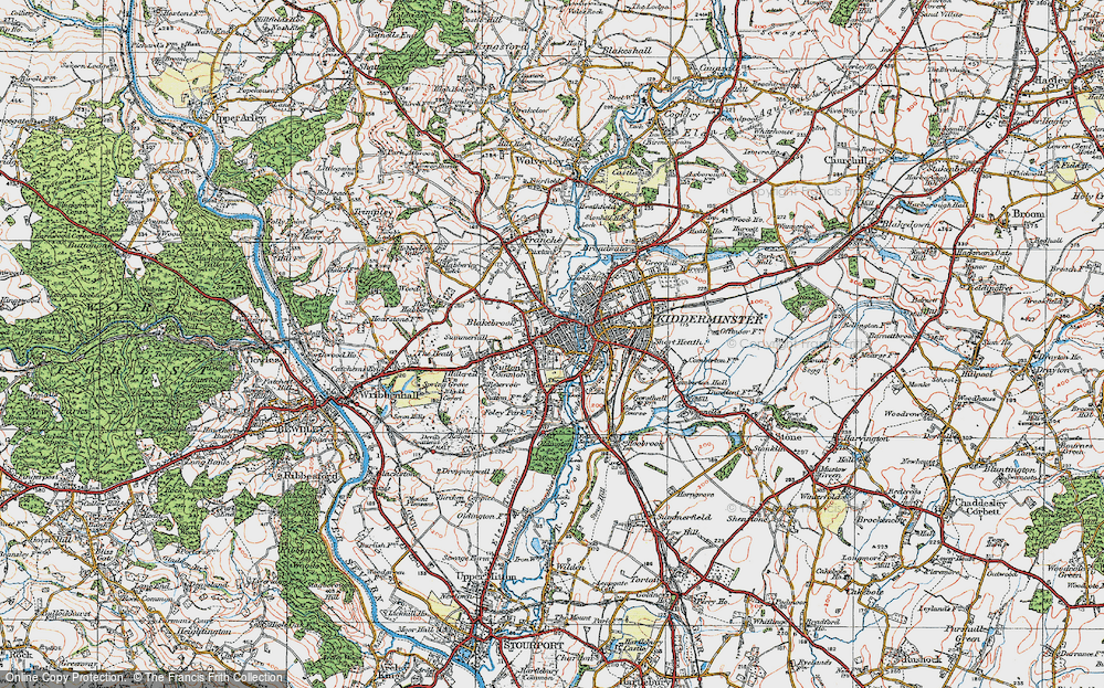 Map Of Kidderminster Old Maps of Kidderminster   Francis Frith