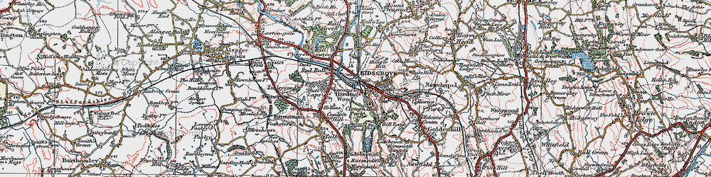 Old map of Kidsgrove in 1923
