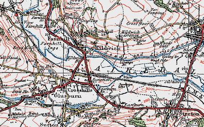 Old map of Kildwick in 1925