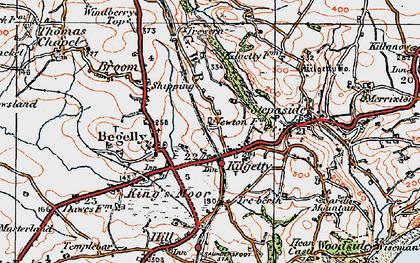 Old map of Kilgetty in 1922