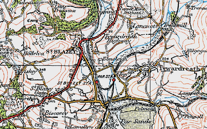 Old map of Kilhallon in 1919