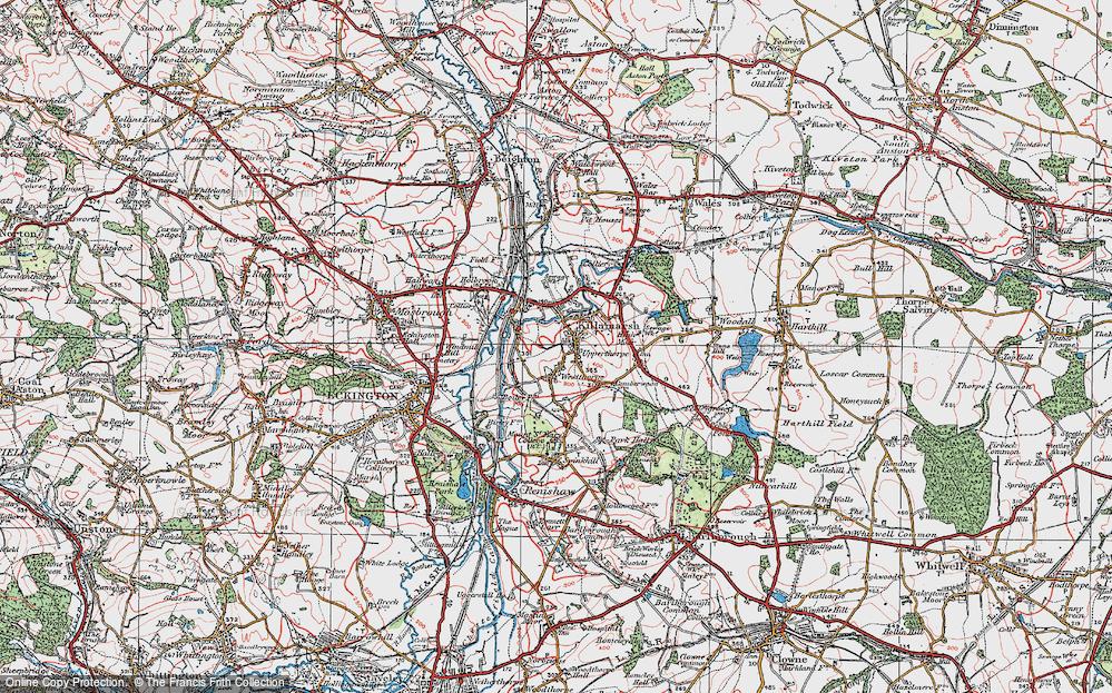 Old Map of Killamarsh, 1923 in 1923