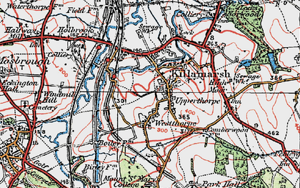 Old map of Killamarsh in 1923