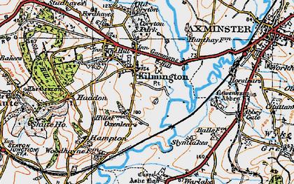 Old map of Kilmington in 1919