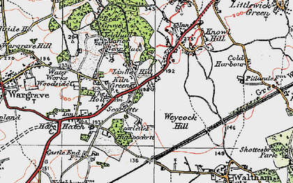 Old map of Linden Hill in 1919