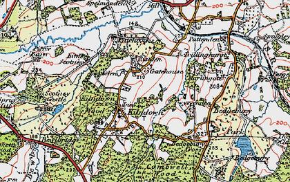Old map of Kilndown in 1920