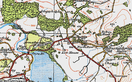 Old map of Armathwaite Hall (Hotel) in 1925