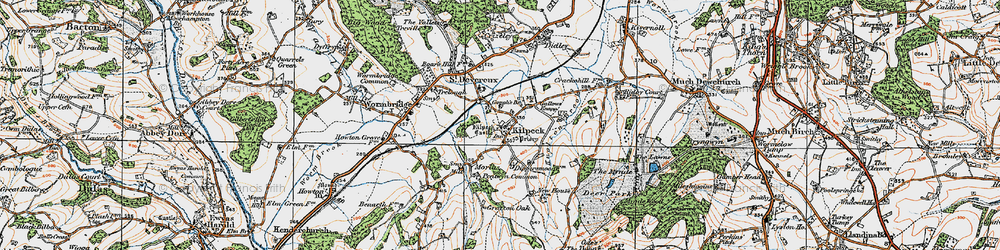 Old map of Kilpeck in 1919