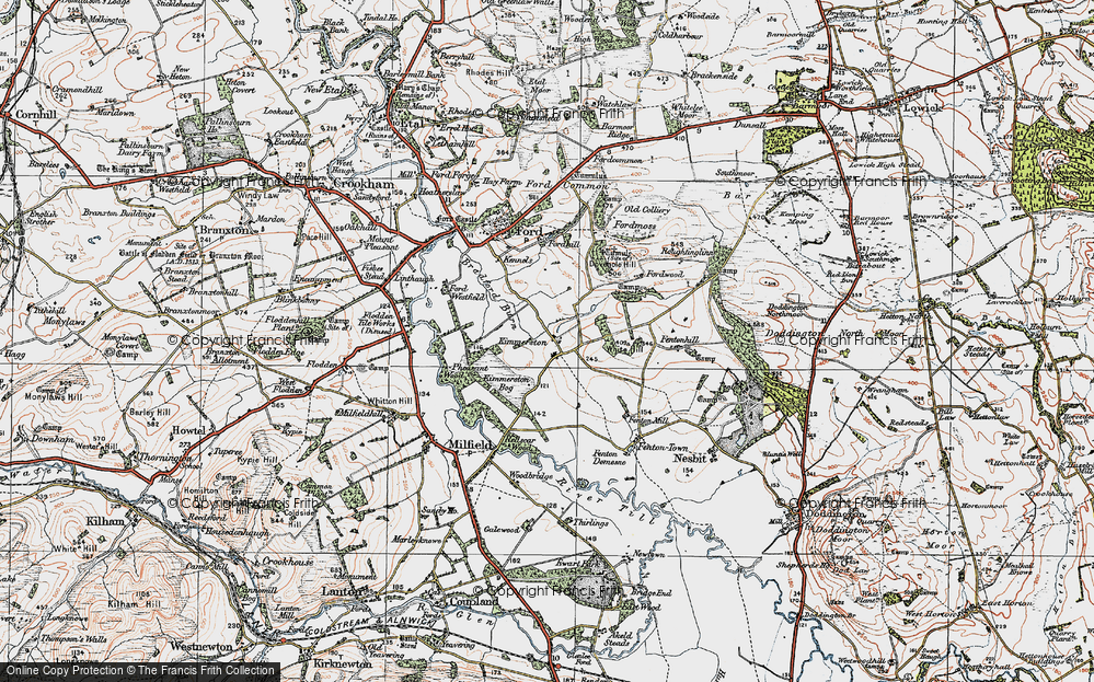Old Map of Historic Map covering White Hill in 1926