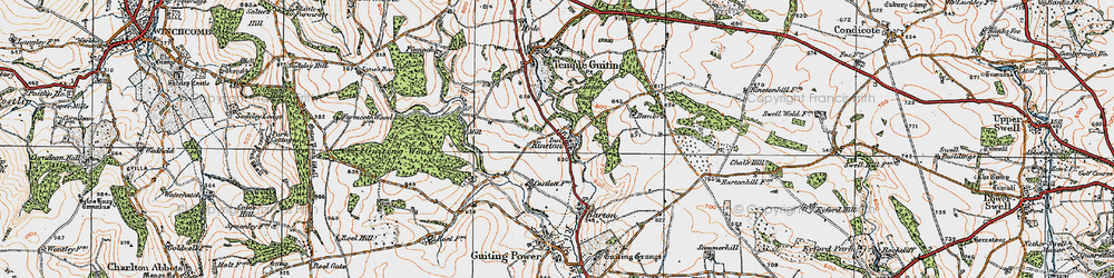 Old map of Leigh Wood in 1919