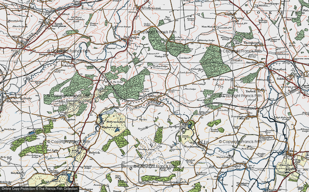 Old Map of Historic Map covering Law's Lawn in 1922