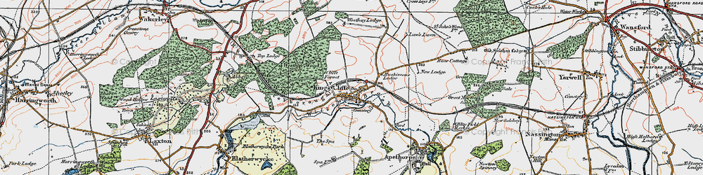 Old map of Willow Brook in 1922