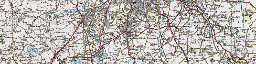 Old map of King's Heath in 1921