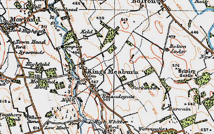Old map of Wickerfield in 1925
