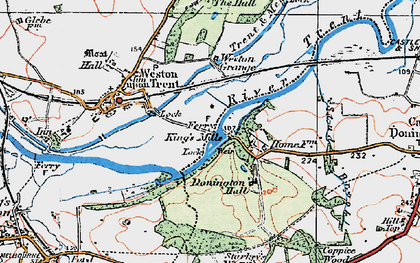 Old map of Weston Grange in 1921