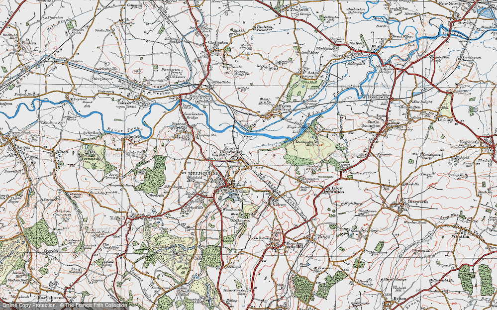 Old Map of King's Newton, 1921 in 1921