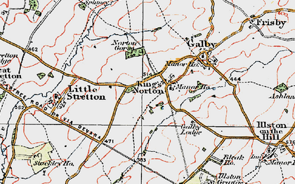 Old map of King's Norton in 1921